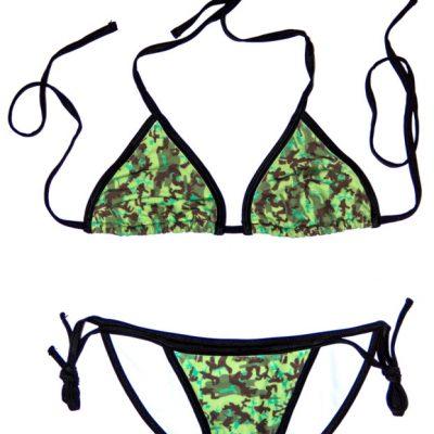 """Hidden Series"" Green Camo String Bikini - Swim Rags Swimwear"