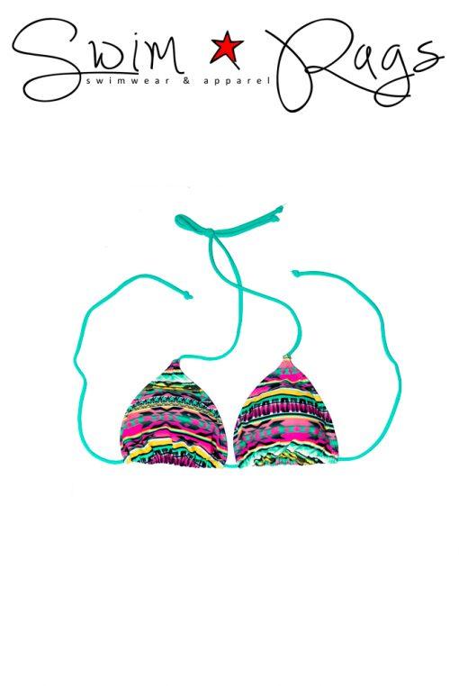 Swim Rags Tribal Print Bikini Top
