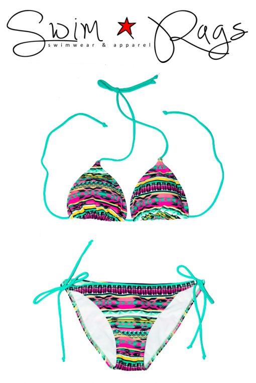 Swim Rags Tribal Print Bikini