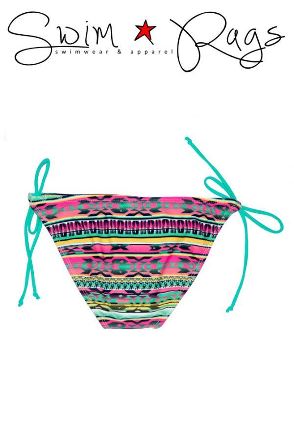 Swim Rags Tribal Print Bikini Bottoms - Back View