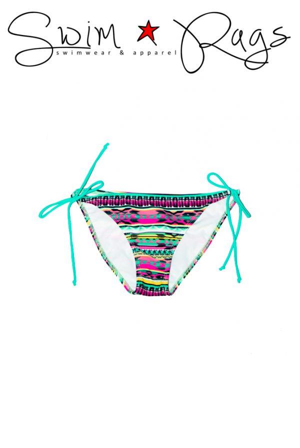 Swim Rags Tribal Print Bikini Bottoms - Front View