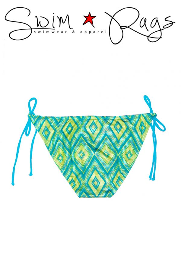 Swim Rags Diamond Tribal Bikini Bottoms - Back View