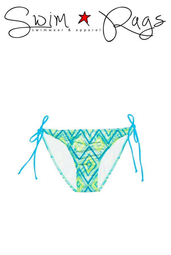 Swim Rags Diamond Tribal Bikini Bottoms - Front View