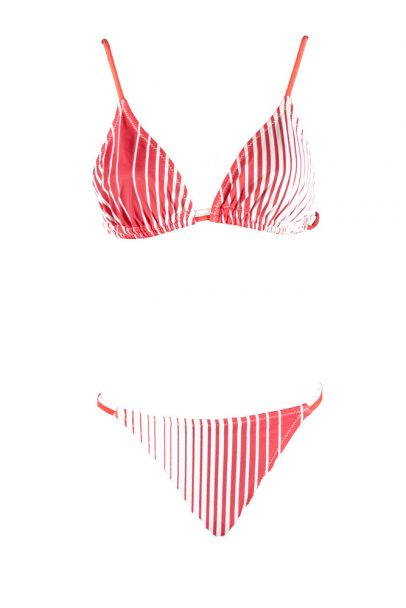 Red Racing Stripes Bikini Swim Rags