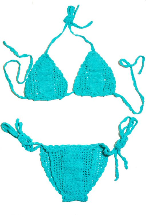 Swim Rags Sea Foam Crochet Bikini