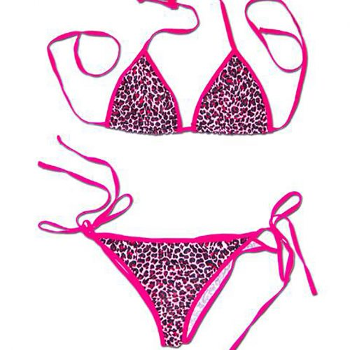 Leopard Pinky Scrunch Butt Bikini from Swim Rags Swimwear