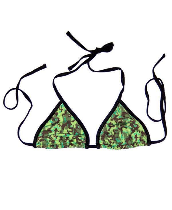 Swim Rags Green Camo Bikini Top