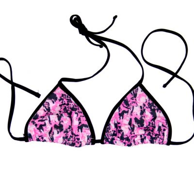 Swim Rags Pink Camo Bikini Top