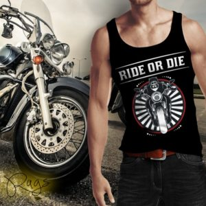 Ride or Die Motorcycle Rider Tank Top by Swim Rags