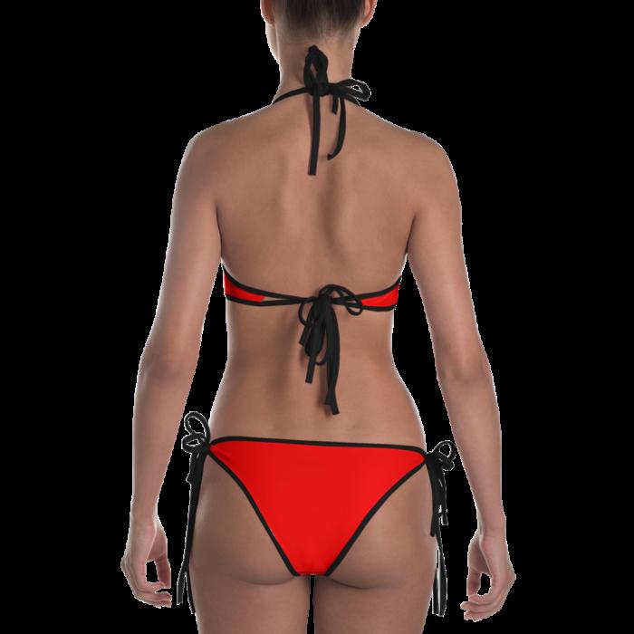 Radiant Red Bikini with Black Trim by Swim Rags