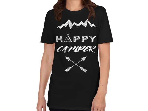 Happy Camper Short-Sleeve Women's T-Shirt by Swim Rags