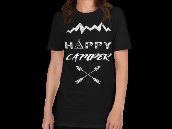 Happy Camper Short-Sleeve Women's T-Shirt by Swim Rags