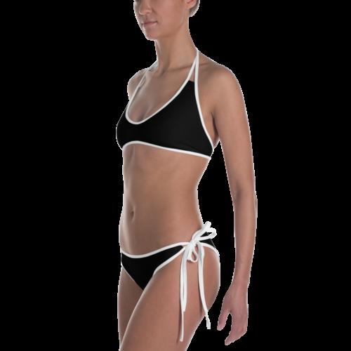 Essential Black Bikini with White Trim by Swim Rags