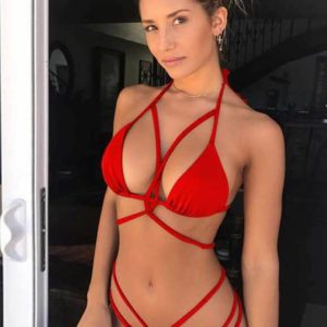 Sexy Red Summer Women Bikini Set