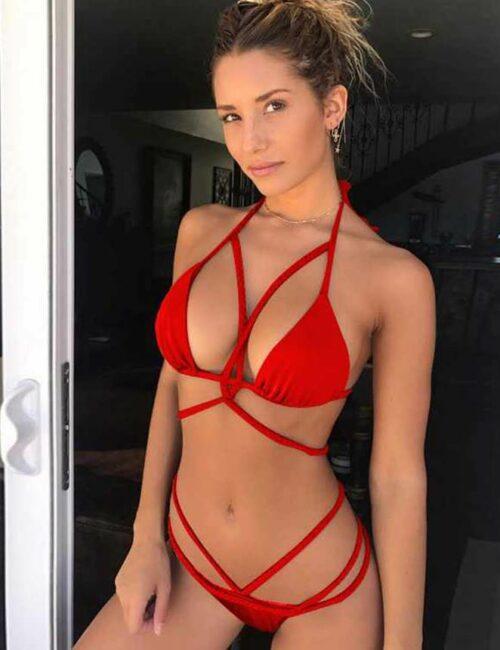 Sexy Red Summer Women Bikini Set