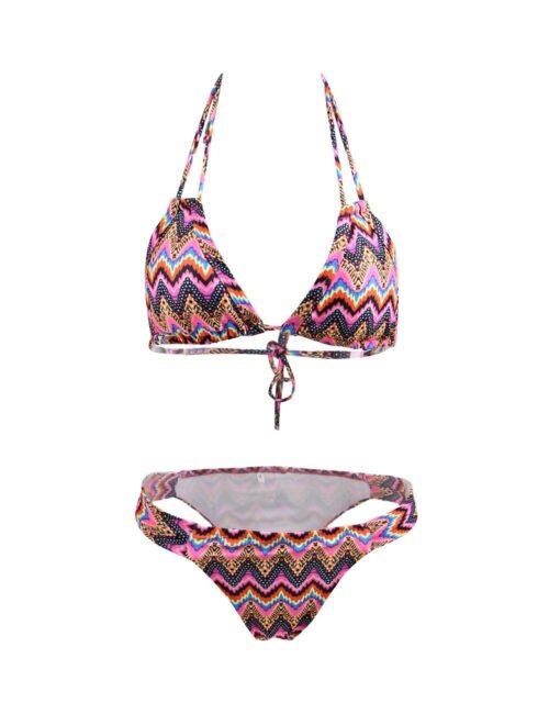 Cool Pink Tribal Print Bikini by Swim Rags