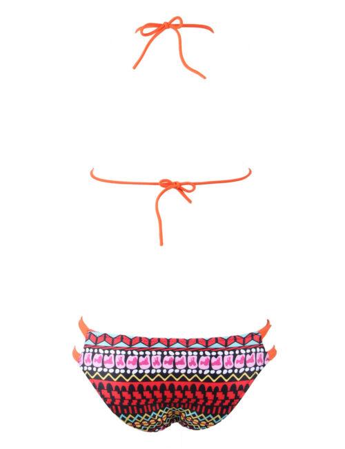 Boosted Red Tribal Bikini Set by Swim Rags (2)
