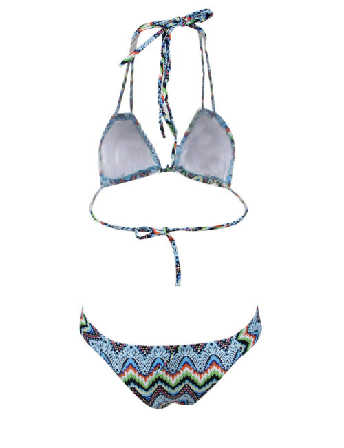 Tribal Blues Print Bikini - Swim Rags