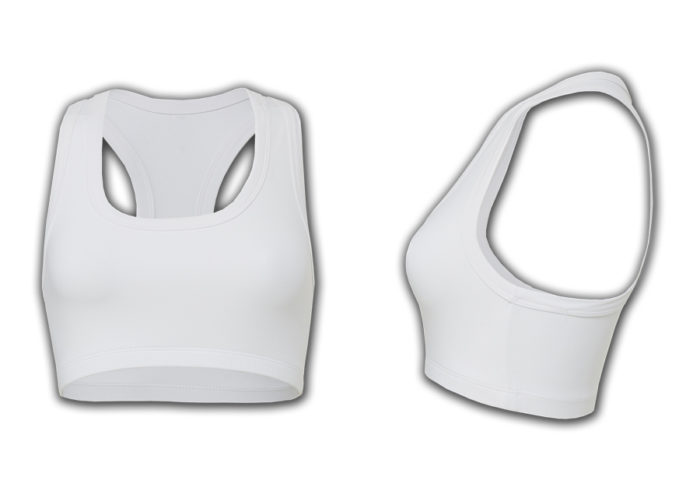 White High Impact Sports Bra Exercise Bra from Swim Rags
