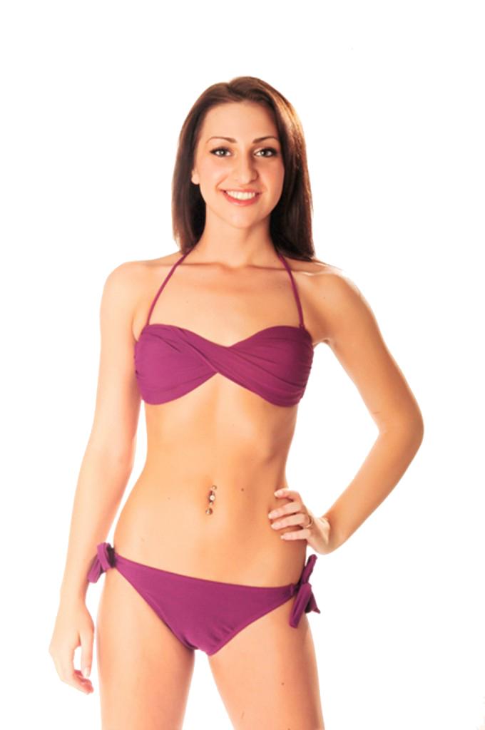 daaa070d883f Purple Twist Bandeau Bikini | Swim Rags Swimwear & Beach Apparel