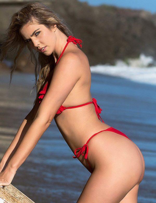 Sexy Red Ruffled Bikini Set | Swim Rags
