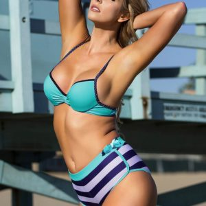 Swim Rags Blue Stripes Three-piece Bathingsuit Set