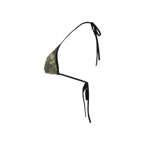 Classic Bikini Top with Digital Camouflage Print by Swim Rags Left View