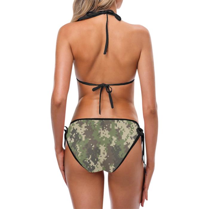 Classic Cut Digital Camouflage Bikini Set by Swim Rags - Back View
