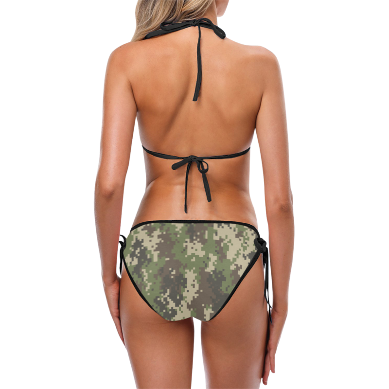 Classic Cut Digital Camouflage Bikini Set by Swim Rags - Back View
