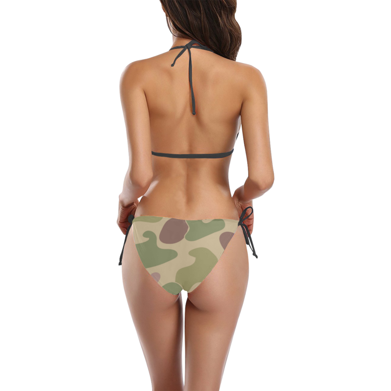Classic Camouflage Print Bikini with Side-tie Bikini Bottoms by Swim Rags - Back View