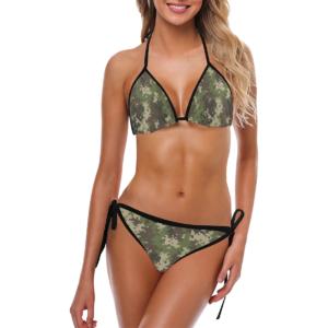 Classic Cut Digital Camouflage Bikini Set by Swim Rags