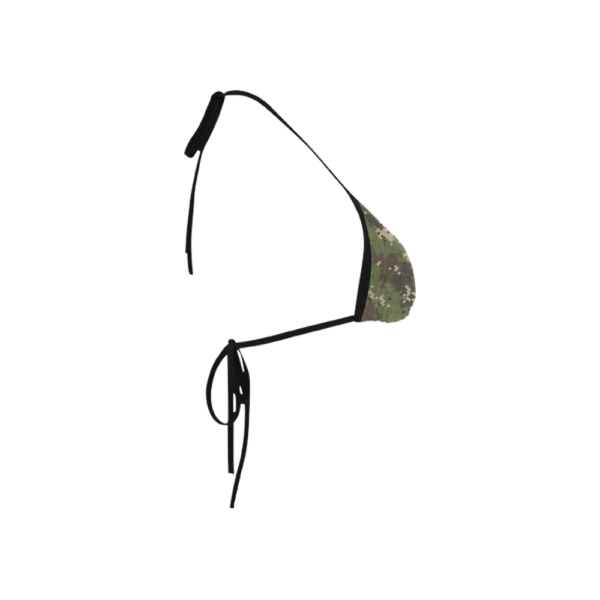 Classic Bikini Top with Digital Camouflage Print by Swim Rags Right Side View