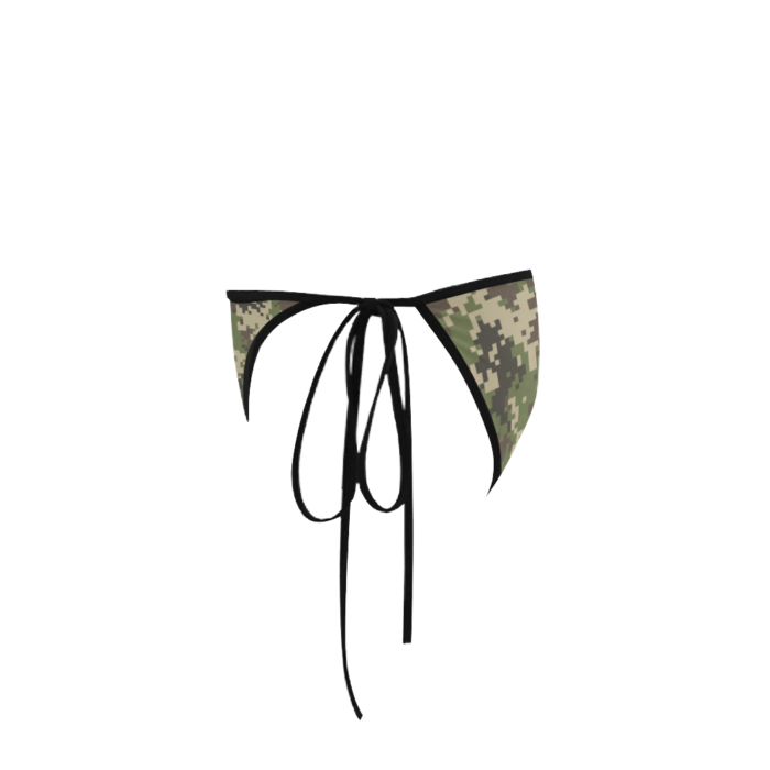 Classic Cut Side-tie Bikini Bottoms with Jungle Camouflage Print - Left View