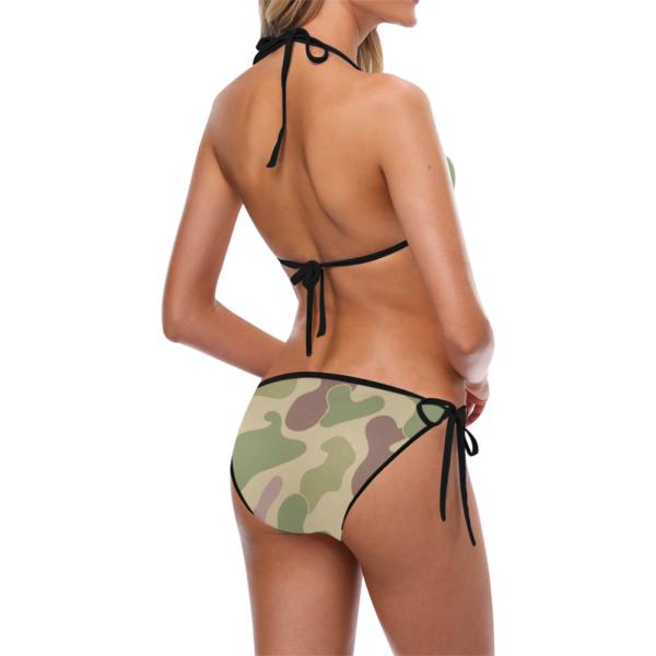 Classic Camouflage Print Bikini with Side-tie Bikini Bottoms by Swim Rags - Left Side View