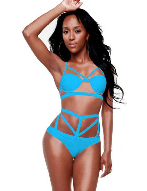 Electric Blue Harness Bikini by Swim Rags (2)