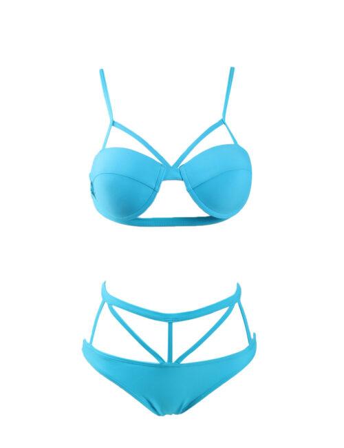Electric Blue Harness Bikini by Swim Rags (3)