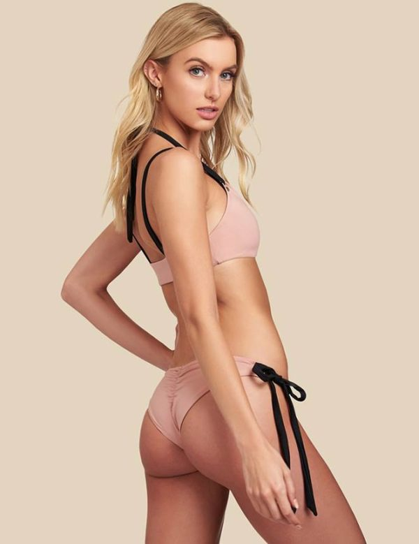 Women's Cheeky Pink Two Piece Bikini by Swim Rags