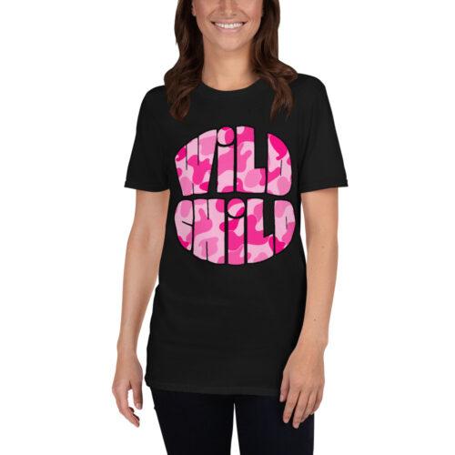 Pink Camo Wild Child Tee Shirt by Swim Rags