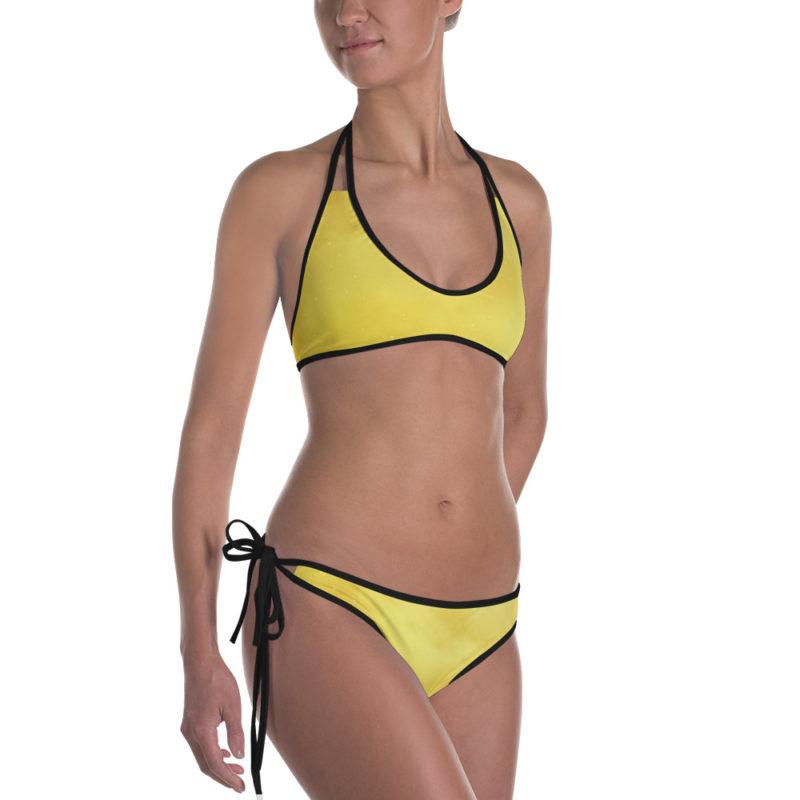 Yellow Galaxy Star Dust Bikini