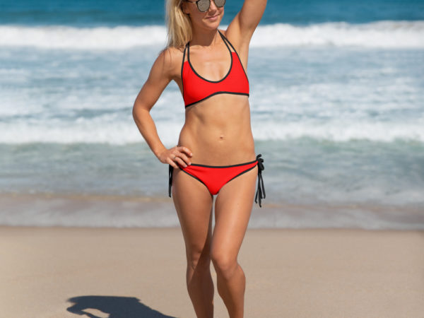 Red Two-piece Bikini