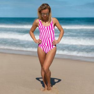 Pink Zebra One-Piece Swimsuit