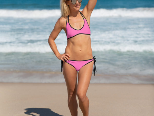 Pink two-piece Bikini