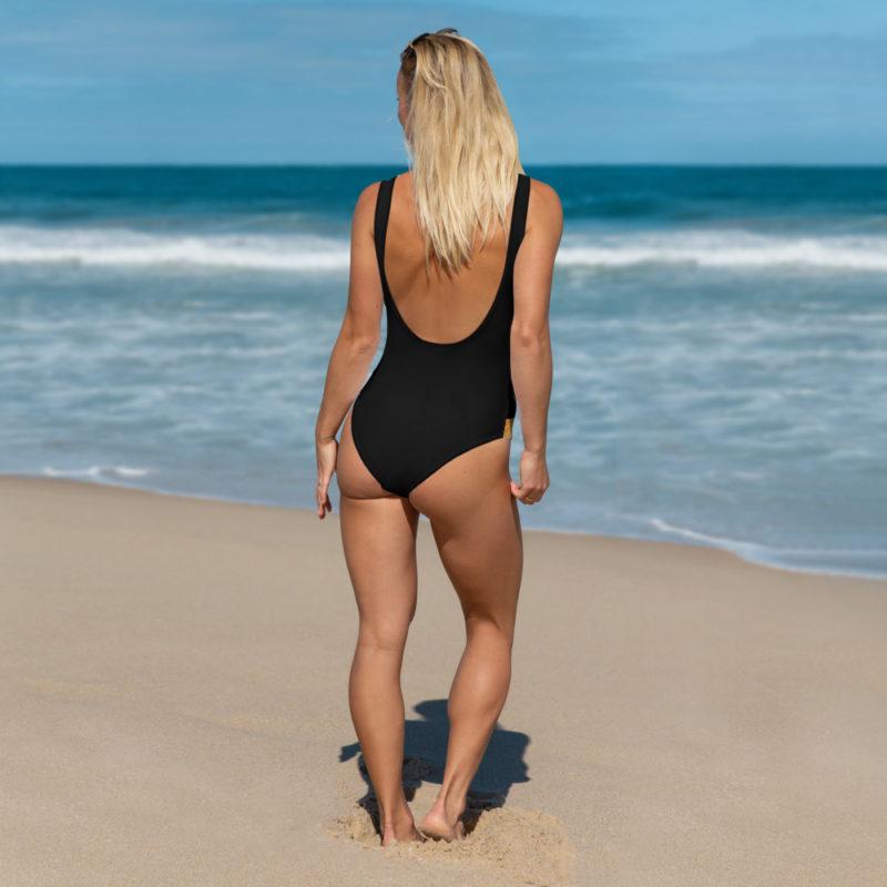 Deputy Sheriff One-Piece Swimsuit Back View by Swim Rags