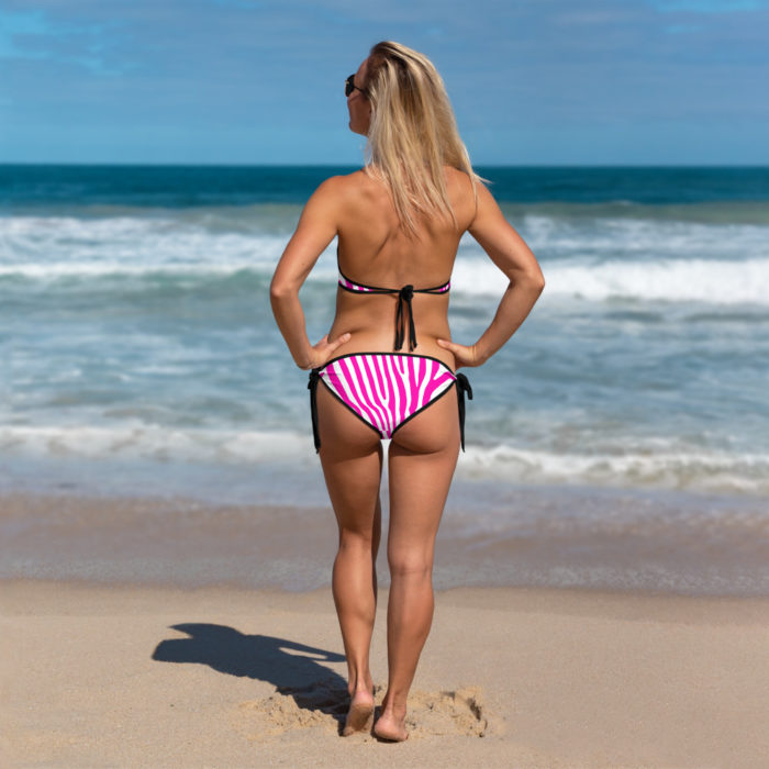 Pink Zebra Print Bikini