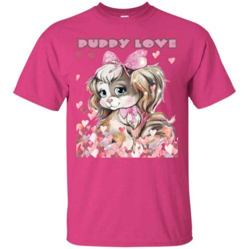 Puppy Love Teen Tee Shirt by Swim Rags