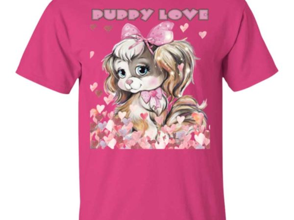 Puppy Love Teen Tee Shirt by Swim Rags