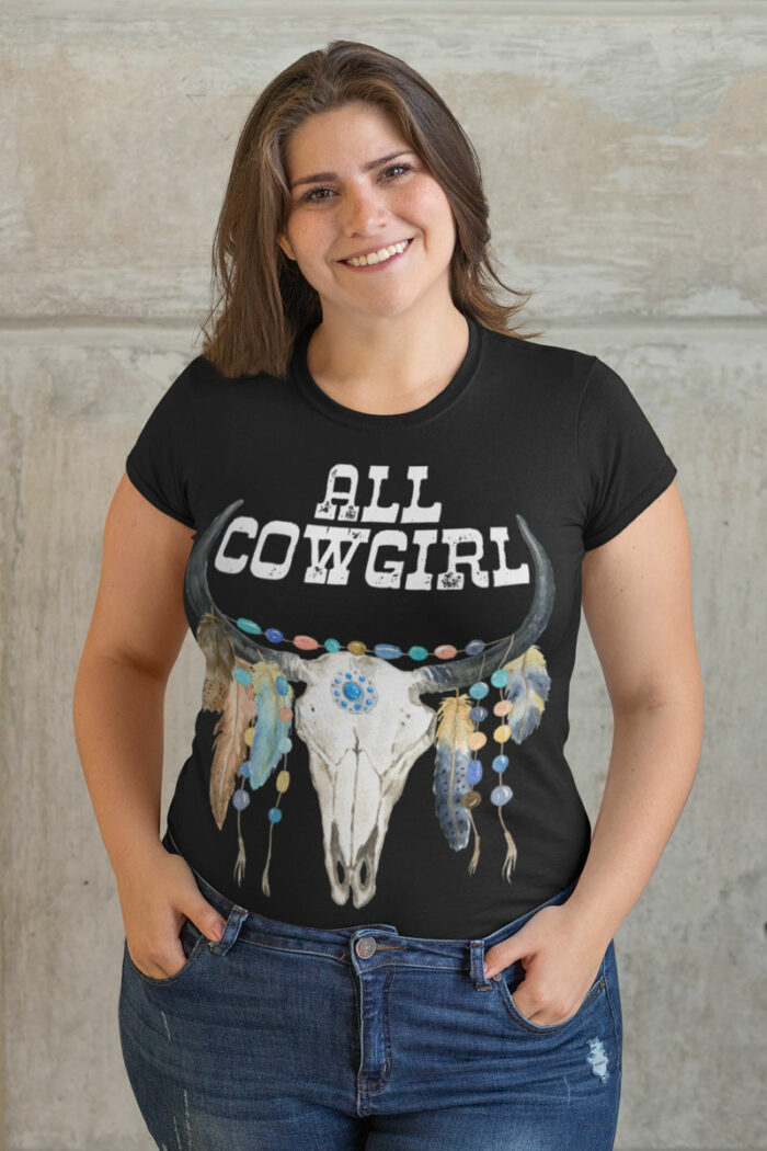 Swim Rags All Cowgirl Plus Size t-shirt