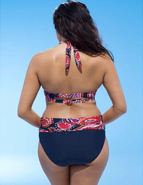 Swim Rags Plus Size Tribal Tropical Print Bikini (2)