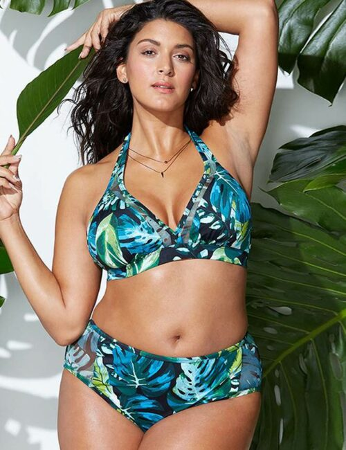 Swim Rags Plus Size Tropical Print Bikini