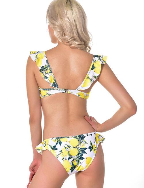 Swim Rags Summer Flower Ruffled Bikini (3)